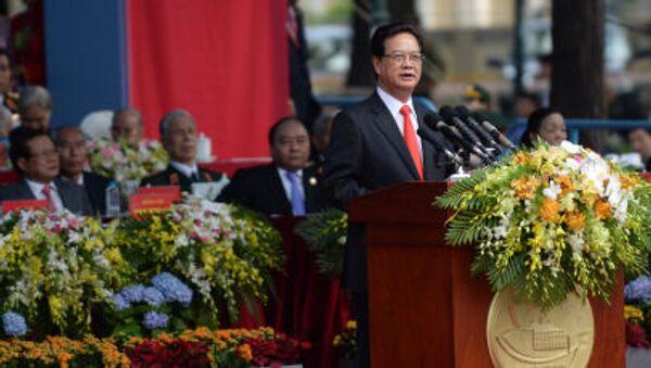Nguyễn Tấn Dũng tại buổi lễ kỷ niệm 40 năm kết thúc cuộc kháng chiến chống Mỹ - Sputnik Việt Nam