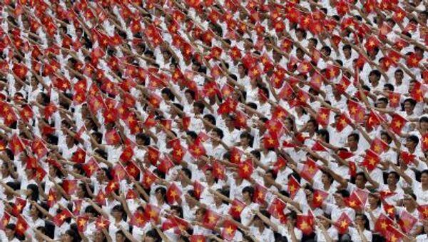 Diễu hành trọng thể kỷ niệm 40 năm Việt Nam thống nhất đất nước  - Sputnik Việt Nam