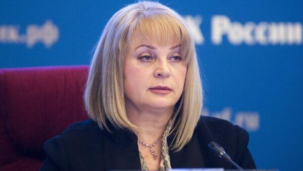 Người đứng đầu Ủy ban Bầu cử Trung ương của Liên bang Nga, bà Ella Pamfilova - Sputnik Việt Nam