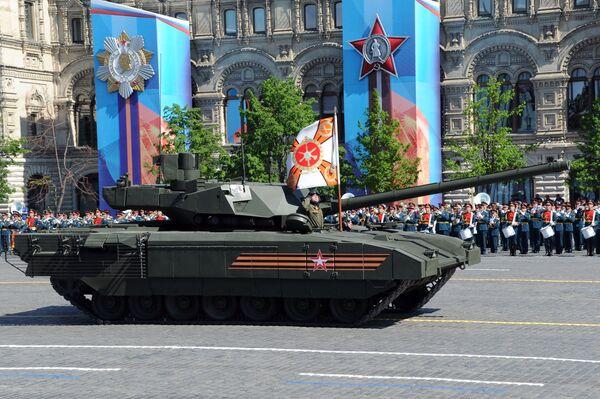 Xe tăng bánh xích T-14 trên nền tảng Armata trong cuộc diễu binh trên Quảng trường Đỏ - Sputnik Việt Nam