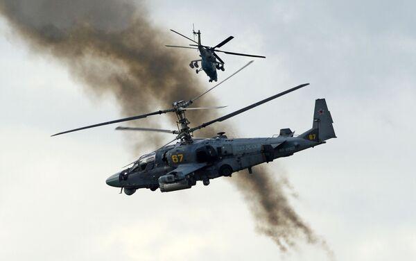 Máy bay trực thăng yểm trợ hỏa lực Ka-52 Alligator tại Diễn đàn quân sự-kỹ thuật quốc tế Quân đội-2016 - Sputnik Việt Nam