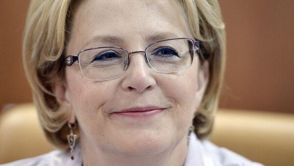 Bộ trưởng Y tế Nga, bà Veronika Skvortsova - Sputnik Việt Nam