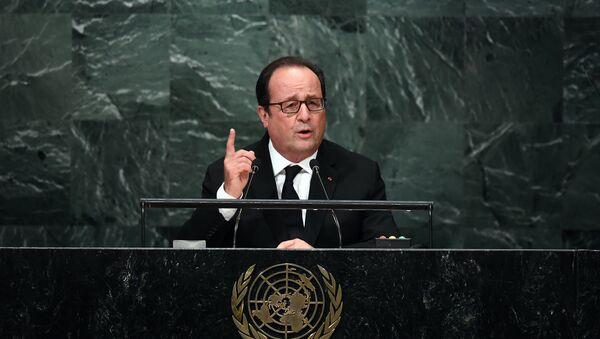 Francois Hollande phát biểu tại Đại hội đồng Liên Hợp Quốc ở New York - Sputnik Việt Nam