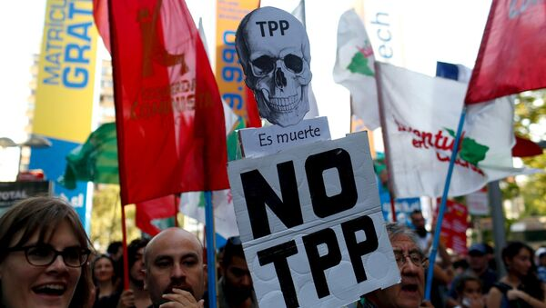 Hoạt động chống TPP tại Chile - Sputnik Việt Nam