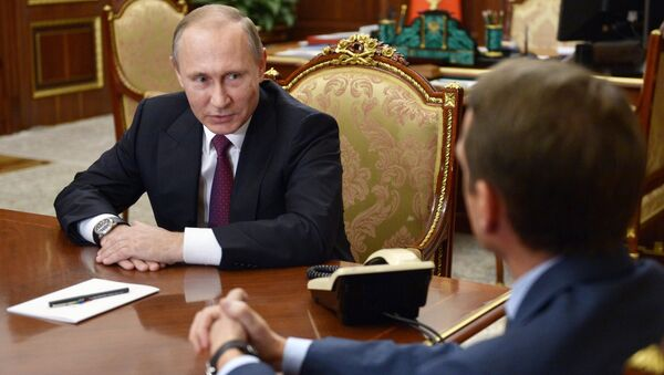 Tổng thống Nga Vladimir Putin đề nghị Chủ tịch Duma Quốc gia Nga sắp hết nhiệm kỳ Sergei Naryshkin trở thành người đứng đầu Cục tình báo (SVR ). - Sputnik Việt Nam
