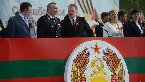 Tổng thống Transnistria Evgeny Shevchuk và Dmitry Rogozin - Sputnik Việt Nam