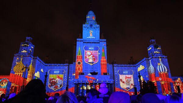Giới thiệu ứng viên linh vật chính thức của World Cup FIFA 2018 tại Festival Quốc tế  Matxcơva  Vòng tròn  ánh sáng ở Matxcơva - Sputnik Việt Nam