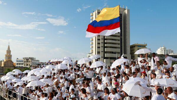 Nghi lễ ký kết thỏa thuận hòa bình tại thành phố Cartagena, Colombia - Sputnik Việt Nam