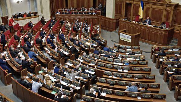 Депутаты на заседании Верховной рады Украины в Киеве - Sputnik Việt Nam