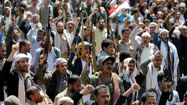 Người dân thủ đô Yemen biểu tình trước văn phòng của Liên Hợp Quốc - Sputnik Việt Nam