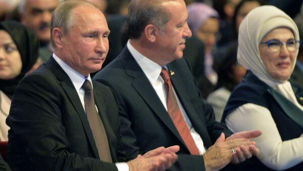 Vladimir Putin và Recep Tayyip Erdogan tại Đại hội Năng lượng thế giới - Sputnik Việt Nam