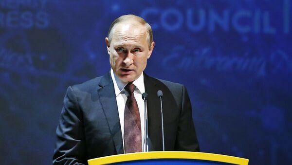 Vladimir Putin phát biểu tại Hội nghị Năng lượng Thế giới ở Istanbul - Sputnik Việt Nam