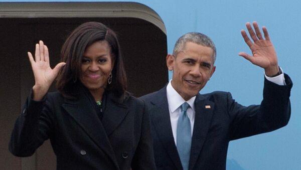 Tổng thống Hoa Kỳ Barack Obama và phu nhân Michelle - Sputnik Việt Nam