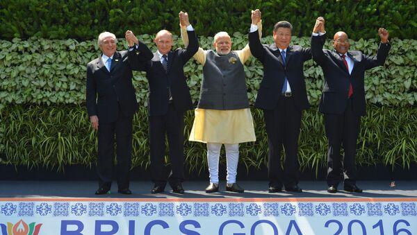 Các lãnh đạo của năm nước thành viên BRICS - Sputnik Việt Nam