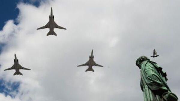 Máy bay Tu- 22 trong buổi diễn tập chuẩn bị cho duyệt binh kỷ niệm 70 năm Chiến thắng của Chiến tranh Vệ quốc Vĩ đại 1941-1945 - Sputnik Việt Nam