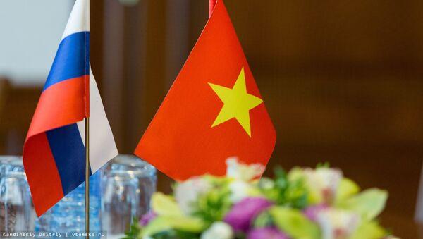 Quốc kỳ Việt Nam và Nga - Sputnik Việt Nam