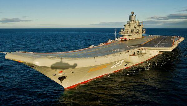 Tàu tuần dương sân bay hạng nặng Đô đốc Hải quân Liên xô Kuznetsov - Sputnik Việt Nam
