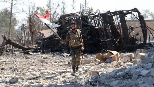 Quân đội Syria ở Aleppo - Sputnik Việt Nam