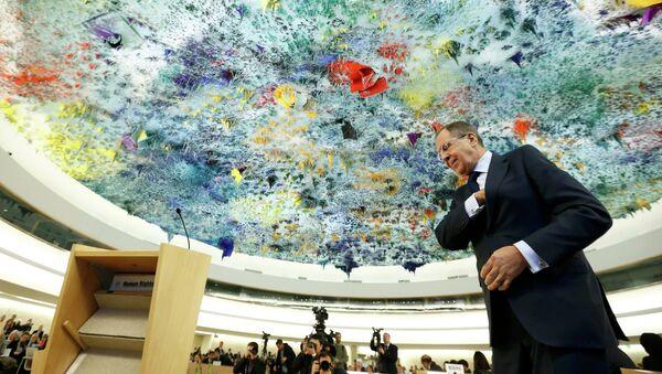 Sergei Lavrov tại Hội đồng Nhân quyền LHQ - Sputnik Việt Nam
