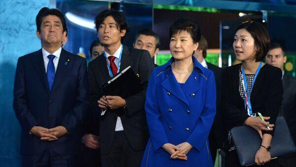Thủ tướng Nhật Bản Shinzo Abe và Tổng thống Hàn Quốc Park Geun-hye - Sputnik Việt Nam