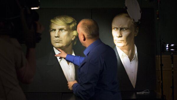 Các chân dung Tổng thống Mỹ mới được bầu và Tổng thống Nga đương nhiệm - Sputnik Việt Nam