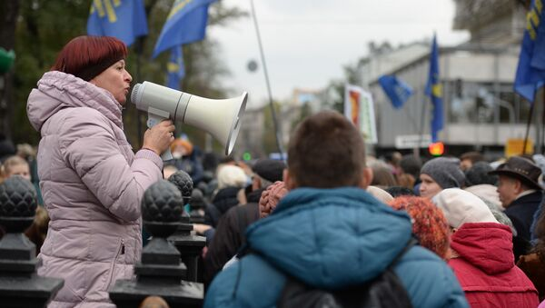 Hàng ngàn người Ukraina tham gia biểu tình phản đối - Sputnik Việt Nam