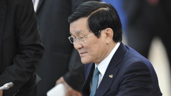 Chủ tịch nước Cộng hòa xã hội chủ nghĩa Việt Nam Trương Tấn Sang - Sputnik Việt Nam