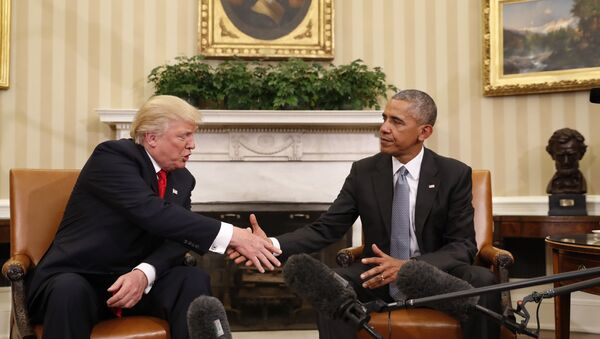 Obama and Trump Meet at White House - Sputnik Việt Nam