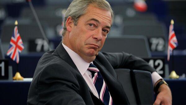Người sáng lập Đảng Độc lập Anh (UKIP) Nigel Farage - Sputnik Việt Nam