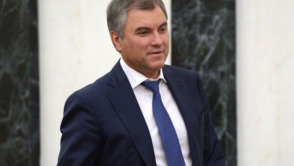 Chủ tịch Duma Quốc gia Nga, ông Vyacheslav Volodin  - Sputnik Việt Nam