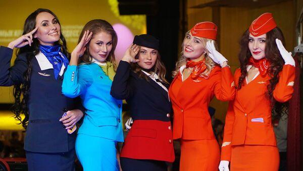 Cuộc thi Top nữ tiếp viên hàng không  xinh đẹp nhất nước Nga - Sputnik Việt Nam