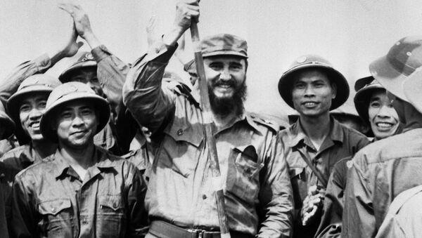 Chuyến đi của Fidel Castro vào tháng chín năm 1973 đến những vùng giải phóng do Chính phủ Cách mạng miền Nam Việt Nam kiểm soát. - Sputnik Việt Nam