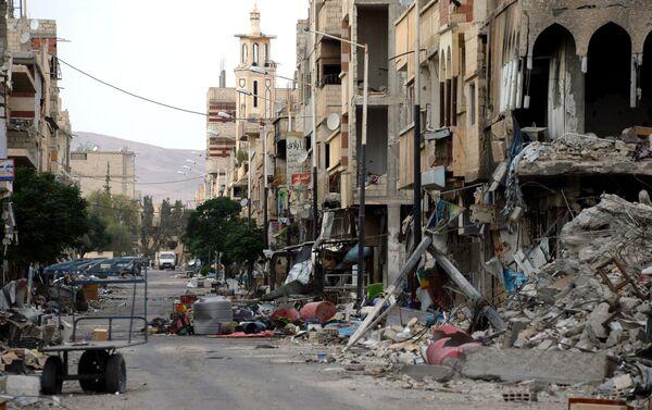 Những ngôi nhà bị tàn phá ở Palmyra - Sputnik Việt Nam