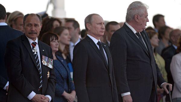 Tổng thống Nga Vladimir Putin và Tổng thống Czech Milos Zeman - Sputnik Việt Nam