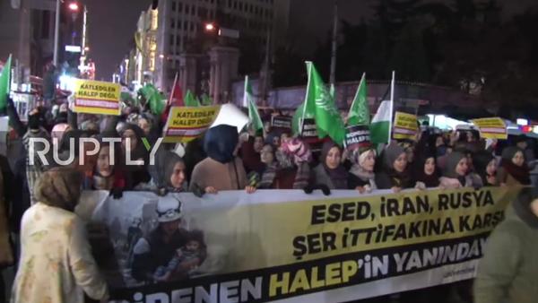 biểu tình chống Nga ở Istanbul - Sputnik Việt Nam