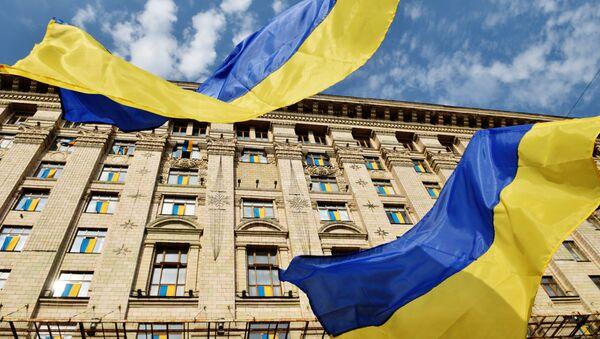 Флаги у Киевской городской администрации - Sputnik Việt Nam