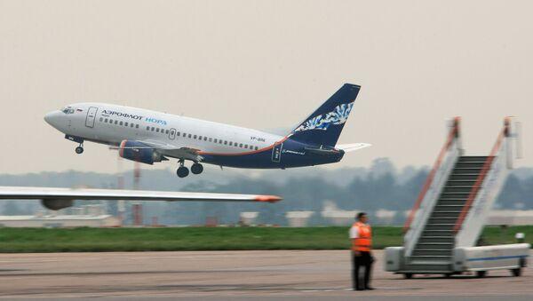 Самолет Боинг-737 авиакомпании Аэрофлот-Норд в аэропорту Шереметьево - Sputnik Việt Nam