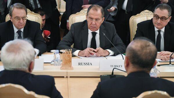Сuộc họp các bộ trưởng ngoại giao của Nga, Iran và Thổ Nhĩ Kỳ - Sputnik Việt Nam