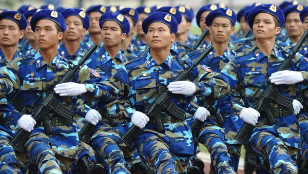 Cảnh sát biển Việt Nam trong cuộc diễu hành ngày hội - Sputnik Việt Nam