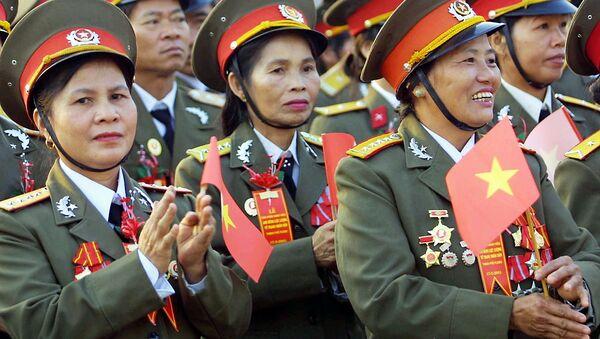 Các chiến sĩ Việt Nam trong một nghi lễ ở thành phố Pleiku, Việt Nam - Sputnik Việt Nam
