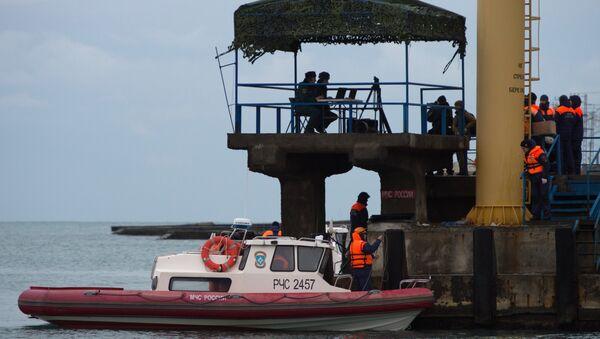 Công việc tìm kiếm và cứu hộ vụ tai nạn máy bay Tu-154 của Bộ Quốc phòng ngoài khơi vùng Biển Đen - Sputnik Việt Nam