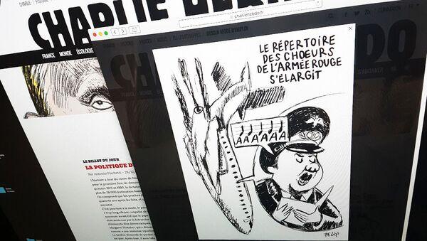 Biếm họa của Charlie Hebdo về vụ tai nạn máy bay Tu-154 - Sputnik Việt Nam