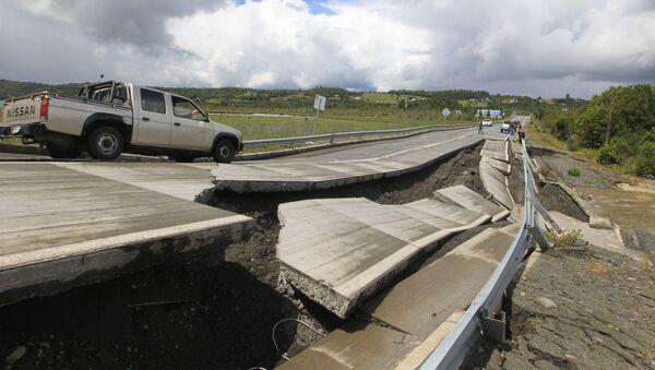 25 tháng 12. Chile. Xa lộ bị phá hủy do trận động đất - Sputnik Việt Nam
