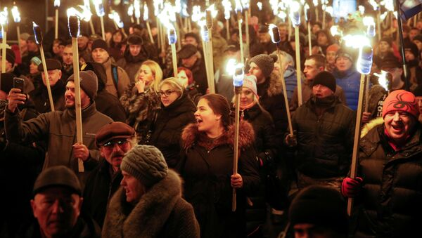 Diễu hành tôn vinh Bandera đã được tổ chức ở Kiev - Sputnik Việt Nam