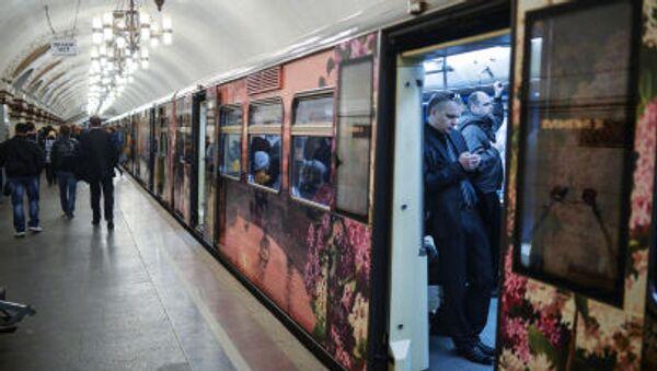 Xe điện ngầm Matxcơva kỷ niệm sinh nhật lần thứ 80 - Sputnik Việt Nam