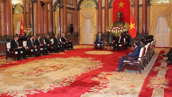 Thủ tướng Cộng hòa Bashkortostan Rustem Mardanov đã hội kiến với Chủ tịch nước Trần Đại Quang - Sputnik Việt Nam