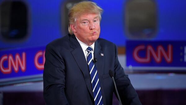 Tổng thống Mỹ đắc cử Donald Trump trên Kênh truyền hình CNN - Sputnik Việt Nam