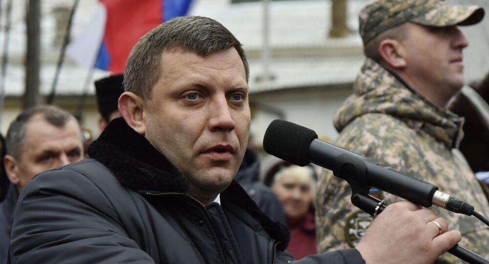 Người đứng đầu Cộng hòa nhân dân tự xưng Donetsk Alexander Zakharchenko