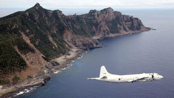 Máy bay P-3C Orion của Hải quân Nhật Bản bay trên Hoa Đông - Sputnik Việt Nam