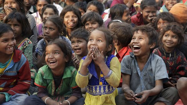 Trẻ em nghèo, Ấn Độ. - Sputnik Việt Nam